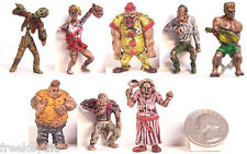 "ZOMBIE PLANET Set 8 Figures Figurines 1.5"" Toys Characters Zombies Walking Dead"