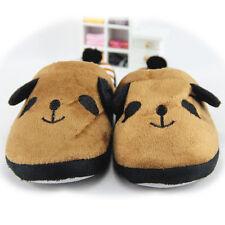 Korean Ladies Winter Cute Warm Soft Anti-slip Panda With Slipper Tail Brown/EU40