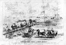 8x10 Print Satire Gov Race New Jersey Hyson Over Bacck of People 1844 #3a12536u