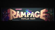 Rampage World Tour Arcade Marquee Midway Translight Header Sign Backlit RWT