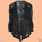 NEXT Fashion Black Lace Waterfall Bolero Blazer Jacket Summer Casual Party Top
