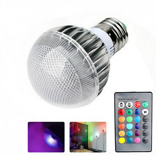 E27 15W RGB LED Light Color Changing Lamp Bulb +IR Remote Home Party Decoration