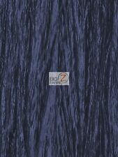 "CRUSHED TAFFETA FABRIC - Navy - 54"" WIDE CREASED BY THE YARD CLOTHING CRAFTS"