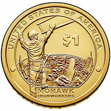 2015 D $1 Native American - Mohawk Iron Workers - Pos A - BU