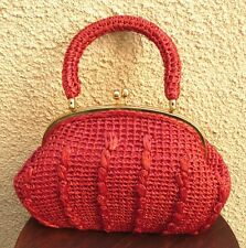 MADE IN JAPAN STREW VINTAGE STYLE HANDBAG RED