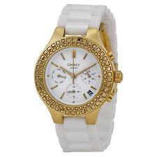 DKNY Damenuhr NY2224 Uhr Armbanduhr 299 € NEU Donna Karan Keramik Chronograp NEU