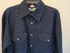 Mens rigid western snap front denim shirt Size XL NWOT Professional heavy weight