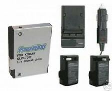 KLIC-7002 KLIC7002 Battery +Charger for Kodak V530 V603