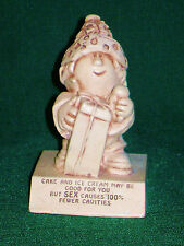 "Vintage 1969 Paula ""Cake Good For You But Sex Fewer Cavities"" Statue Figurine"