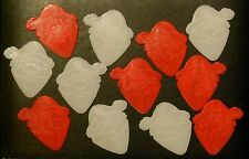 12 pk Santa Guitar Picks .75mm Red & White 351 Shape by PICK GUY Pics Plectrums