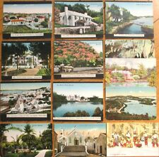 Bermuda: Set of 13 1910-20 Postcards, Some Mounted to Board