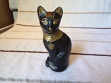 FENTON ART GLASS HAND PAINTED OOAK  ANCIENT EGYPTIAN STYLIZED CAT LQQK