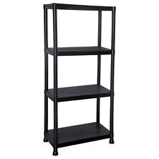 4 Tier Plastic Shelving Storage Unit Rack Shelves Garage Shop Warehouse Shed