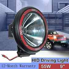 9'' 55W HID XENON DRIVING SPOTLIGHT OFFROAD WORK LIGHT SPOT BEAM 4X4 4WD SUV 12V