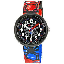 Swatch Spiderman Black Dial Spiderman Plastic Boys Watch ZFLNP021