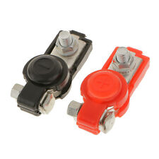 Pair Adjustable Red & Black Car Battery Terminal Clamp Clips +&- Protector