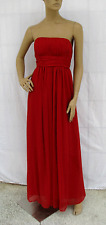 Formal Dress Red Pleated Strapless Evening Gown Bridesmaid Wedding Party Sz XL
