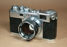 Nikon S2 35mm Rangefinder Camera + Black NIKKOR-S.C. 50mm f/1.4 S-Mount Lens!