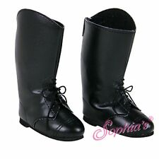 "Tall Black Riding Boots - sized for American Girl® (BOY) & other 18"" dolls"