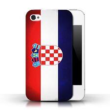 STUFF4 Hülle/Case für Apple iPhone 4/4S/Kroatien/Kroatisch/Flagge