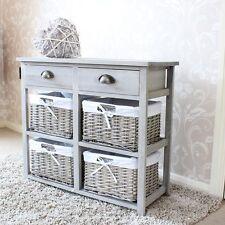 Grigio legno vimini portaoggetti cassetto shabby chic francese camera da letto cucina bagno