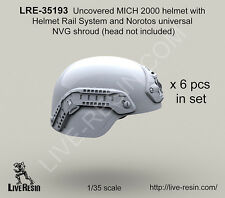 Live Resin 1/35 Uncovered MICH 2000 Helmet w/Rail System & Norotos NVG Shroud