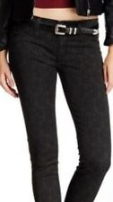 Hudson Krista Black Printed Super Skinny Jeans Women's Stretch Size 26 X 30 New!
