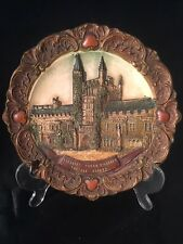 Vintage Antique Made In Austria 3489 Plate Founders Tower Magdalen College Oxfor