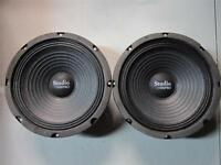 "NEW (2) 8"" Woofer Speakers.Guitar.Pro Audio Replacment Pair.8 ohm.PA.eight inch"