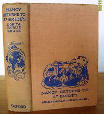 Nancy Returns to St Bride's – 1938 1st – Dorita Fairlie Bruce **RARE**