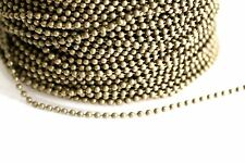15ft Bronze 2mm Ball bead Chain links-unsoldered 1-3 day ship