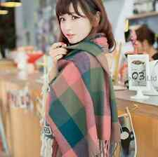 Long womens Cashmere wool soft Scarf Shawl Lady plaid classics