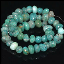 """Natural Russia Amazonite 6mm-13mm Freeform Rondelle Nugget Spacer Beads 7.5"""""""