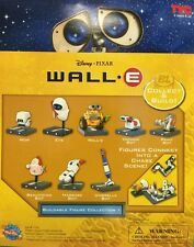 "Disney . Pixar WALL-E  PLAYSET 8 FIGURES WALLE.E Pixar toy cake toppers ""Gacha"""