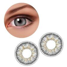 1 Pair Contact Lenses Color Soft Big Eye UV Protection Cosmetic Lens Gray AC