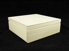 Plain legno Square Simple Storage PORTAGIOIE portagioie decoupage