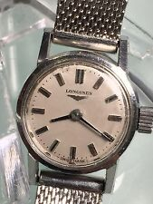 VINTAGE LONGINES 17J WIND-UP LADIES STAINLESS STEEL WRISTWATCH CALIBER 460 N/R