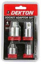 """4pc 1/4"""" to 3/8"""" to 1/2"""" Socket Adaptor Reducer Converter Set Kit"""