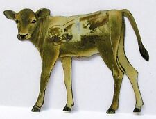 1920's brown JERSEY CALF Delaval Cream Separator tin litho DAIRY *
