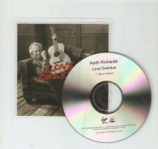 KEITH RICHARDS (ROLLING STONES) LOVE OVERDUE - VIRGIN 1 TRACK UK CD PROMO