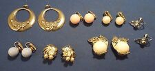 Mixed Lot of Fashion Costume Earrings- Clip On, Screwback and Stud