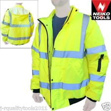 Hi-Vis Class 3 Safety Jacket, Reflective Coat, Bomber Jacket, Size: XXL