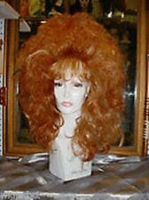 **WIG WIGS DRAG QUEEN HOT FOR FUN FASHION LONG WAVY RED