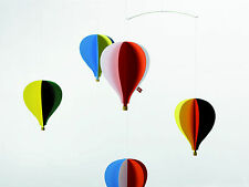 Flensted Hot Air Balloon Five 5 Hanging Baby Mobile Nursery Decor
