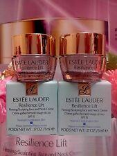 ESTEE LAUDER Resilience Lift Firming Sculpting Face/Neck Creme SPF15◆5mlx2◆#1638