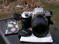 Nikon AF Zoom Nikkor 28-80mm F:3-5.6D & N60 Tested working Nikon 1 yr. warranty