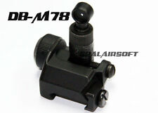 D-Boys 600M Flip Up Rear Sight for 20mm RIS Rail Airsoft SR-25 AEG