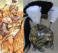 Greek Alexander the Great of Macedon antiqued lion head helmet armor armour