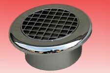 """4"""" 100mm CHROME PLASTIC EGG CRATE CEILING GRILLE VENT fr EXTRACTOR FANS, DUCTING"""