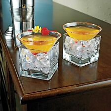 Modern Midtown Home Barware Liquor Martini Cocktail Crystal Glass Chillers Set
